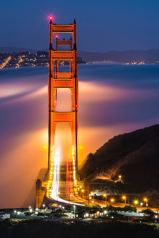 I just loved the glow on the fog from the bridge when it was aligned!
