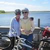 PAM & DEB OLSON AT MILLER DAM BICYCLING