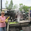 """THIS GUY COMPLETELY BUILT THIS STEAM-TRACTOR FROM SCRATCH (TOOK HIM 5 YEARS TO MAKE EVERY PART BY HAND) & TODAY WAS USING IT TO STEAM """"CORN ON THE COB"""" (NEWVILLE, WIS MOTORCYCL TRIP FOR DOUG & PAM)"""