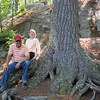 CLYDE & DEB OLSON AT A PRETTY BIG PINE TREE AT BIG FALLS PARK