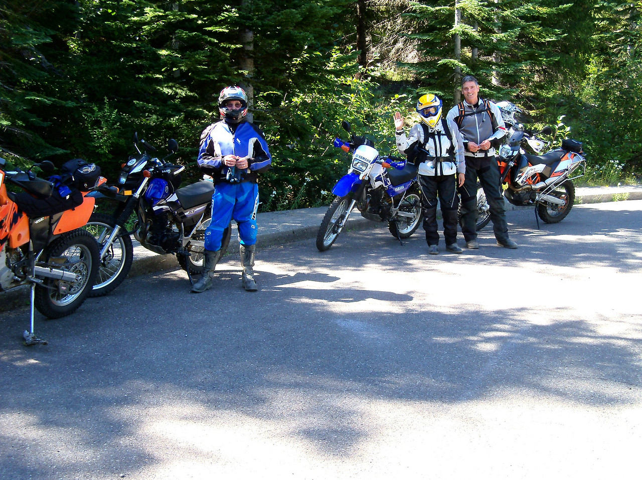 Wednesday, Sept. 12, we rode up Mt St Helens on the 26 Rd..