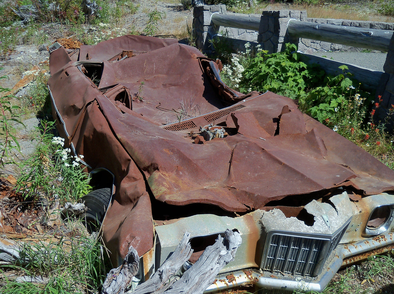 Remains of the Miner's car