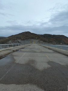 Across the dam