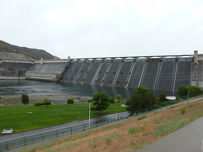 Grand Coulee Dam from the vistor center.