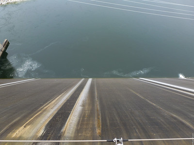 Looking Down the Dam.
