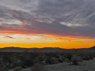 Sunset over OldDad Mountains