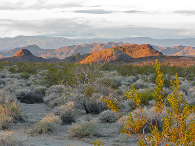 Early light on Granite Mountain foothills