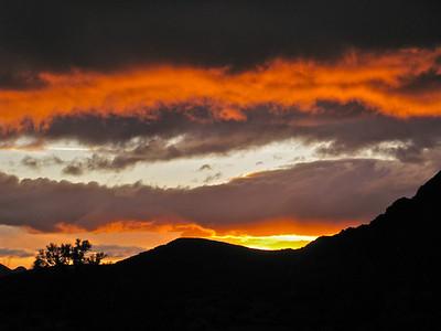 Sunset fiery finish