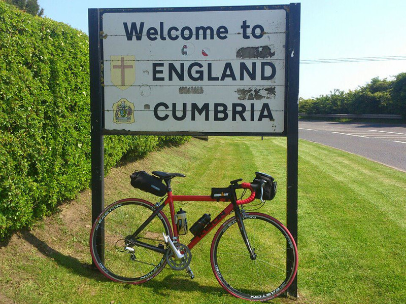 Day 6 Sanq'uhar - Hesket Newmarket<br /> Yep Scotland officially conquered. Beautiful country, beautiful people and of course the home of irn bru. Sad to see the bru go but it feels wrong to drink it down south. Bit like Guinness and Ireland. The sun can officially bog off. I have had enough of you already. This cycling malarkey is hard enough without you thinking it's August. Good day on bike, sores slightly less painful and road surface improved greatly. The lakes tomorrow!<br /> <br /> Stats<br /> 84 miles<br /> 15.8 average<br /> Number of raindrops that fell on my head in Scotland = 0<br /> <br /> Great news on sponsorship as we have just smashed through the £3000 mark so thanks again to all that have sponsored. If you haven't don't worry because you still can