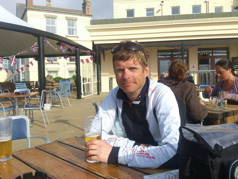Day 12 Silverton - Newquay<br /> Only 40 miles from lands end. Long and hilly today but mike was waiting for me at the end with a cold pint so all good. He is going to support me for the next few days so a massive thanks to him. Lands end tomorrow lunchtime!!!!<br /> <br /> Stats<br /> 96.4 miles<br /> 14 av<br /> Too many hills to count - this part of the world needs a decent ironing <br /> <br /> Total so far 916 miles