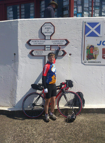 Day One<br /> After 4 trains and a short bike ride I eventually got to the start line. Unfortunately the photo guy that owns the famous white sign post doesn't work Saturdays so it was locked away in his shed. Still you get the idea. Only 1300ish miles to go!<br /> Stats for the day<br /> 37 miles<br /> 2h 18mins<br /> Av 15.9 m/h<br /> First big day on the bike tomorrow
