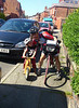 Day 8 Garstang - Chester<br /> Short one today via Liverpool. And look who came to meet me for the last bit. None other than pirate Freddy!<br /> <br /> Stats<br /> 56 m<br /> 16.4 av<br /> <br /> Next challenge is to get to lands end