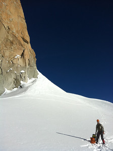Below the South Face of Aiguille du Midi.
