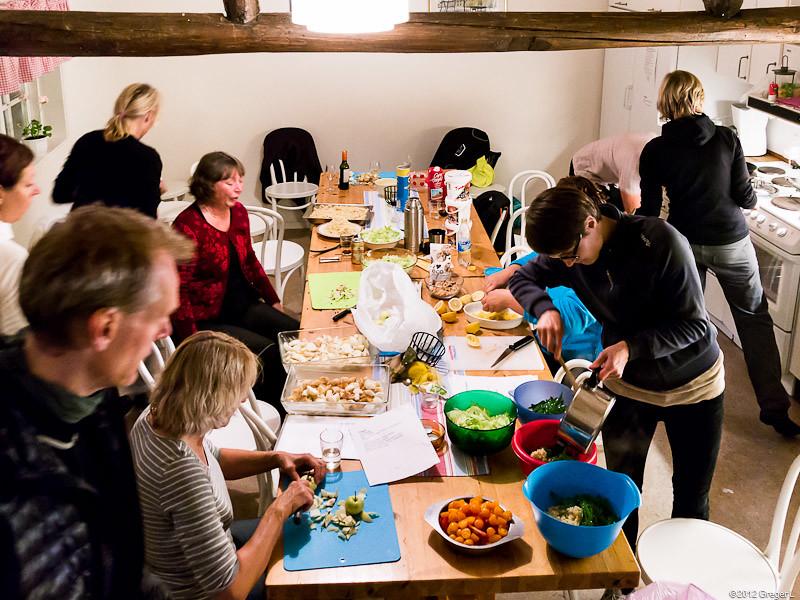 Full aktivitet i köket