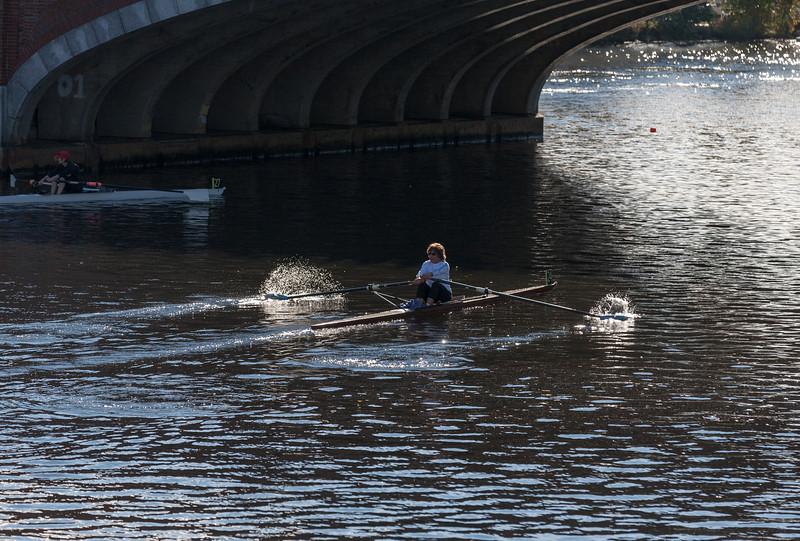 Joan under the Eliot bridge