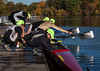 Boys V4: putting in oars