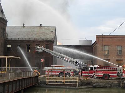 Holyoke, MA 2nd alarm Mill Fire 18 Water St. 3/15/12