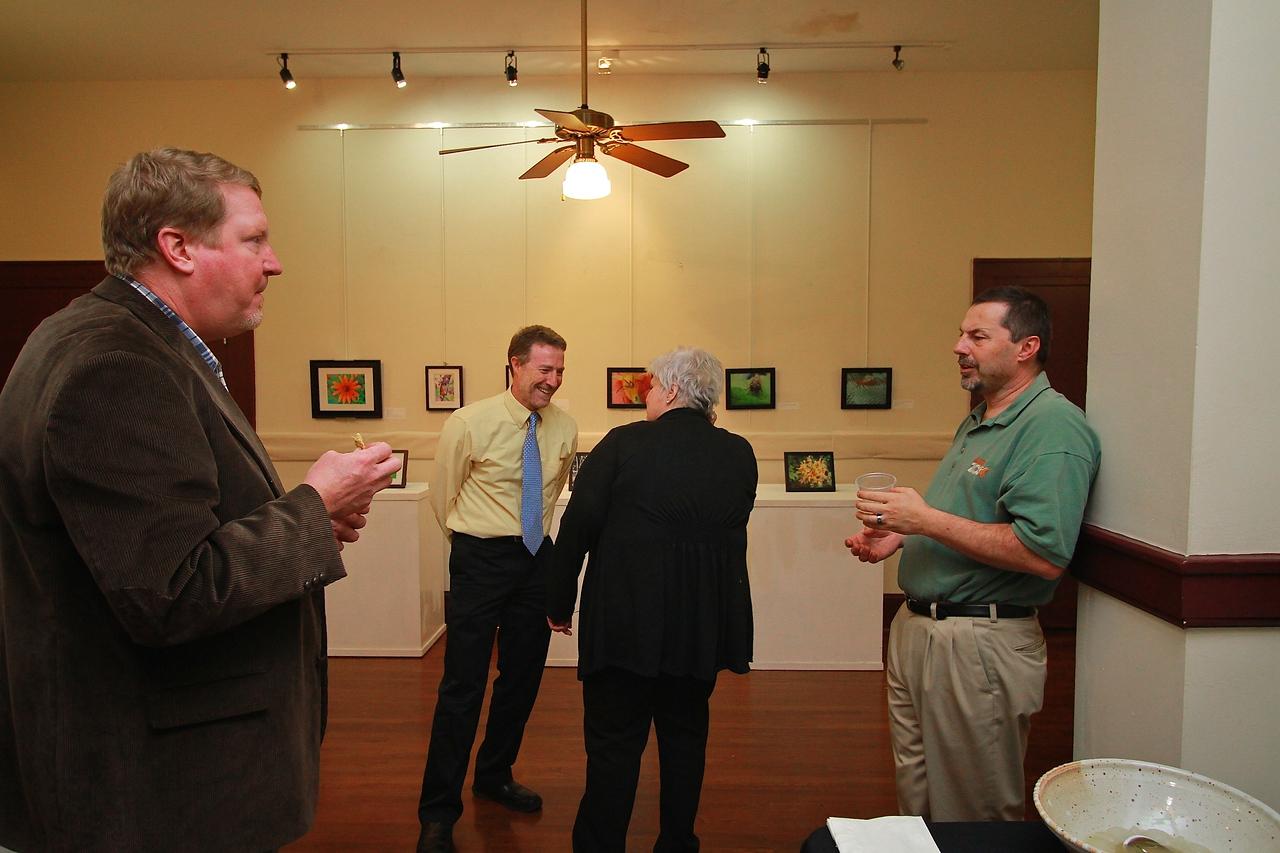 Art in Science exhibit in the Comm Studies Hall.
