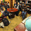 Tribune-Star/Jim Avelis<br /> Almost there: About a dozen Indiana State University students attended a virtual session with a Peace Corp representative Thursday evening. The session was about an hour long and included a presentation by Peace Corp volunteers in the field followed by a question and answer session.
