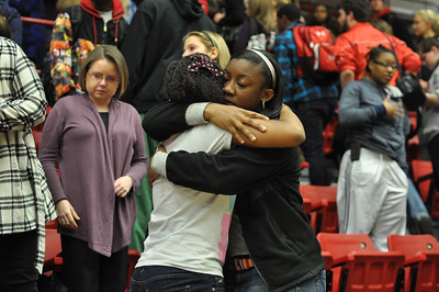 GWU students, faculty, and staff gather for a prayer service and memorial for Ariane Patterson in the LYCC at noon January 20, 2012