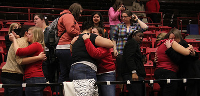 Close friends of Ariane Patterson receive love and comfort from fellow GWU students and faculty.