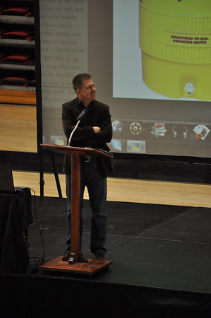 Celebration Week speaker, Chris Thompson in dimensions Tuesday January 24, 2012 .