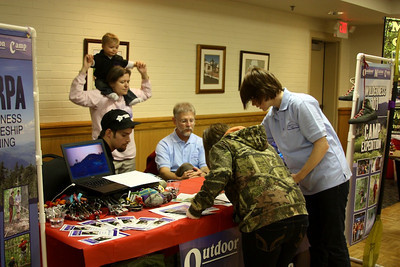 GW Students check out the booths at the Summer Missions Camp Fair on Wednesday, January 25th