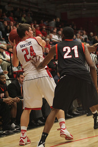 Kevin Hartley, 24, with the ball.