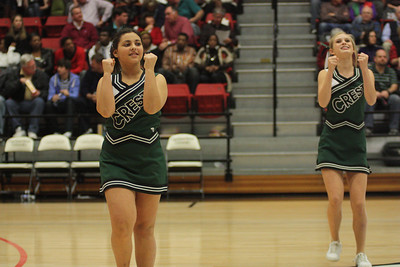 Half-time entertainment Crest Middle School cheerleaders and dance team