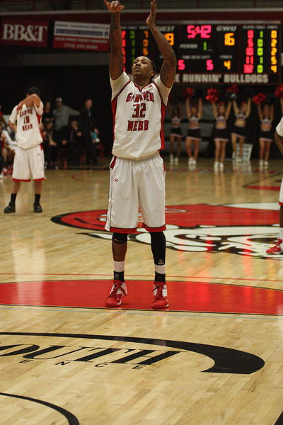 Tashan Newsome, 32, makes a free throw