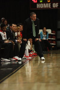 Coach Holtmann watches his team