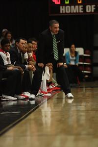 Coach Holtmann watches his team