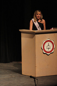 Chelsea Gregory was the emcee for the Miss Gardner-Webb Pageant