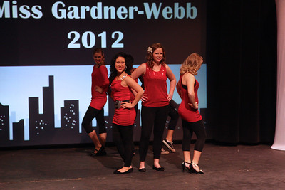 Miss Gardner-Webb contestants perform the opening number