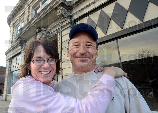 Diamond in the rough: Lee and Tony Lewis have taken the task of restoring the Davis Building in downtown Brazil.