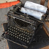 Left over: An Underwood Standard Typewriter sits on a chair in the Davis Building in the former bank site.