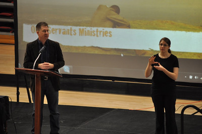 Celebration Week speaker, Chris Thompson in dimensions Tuesday January 24, 2012 .
