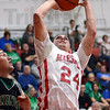 And one...: Marshall's #24, Jared Boyll scores on a drive and was fouled during first quarter action against West Vigo. He also converted the free throw.