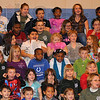 """Tribune-Star/Jim Avelis<br /> Reaction: Students and staff at Franklin Elementary School react to seeing """"America"""" the bald eagle that is part of the Birds of Prey program brought to area schools by Duke Energy and the American Eagle Foundation."""