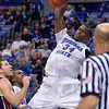 Tribune-Star/Joseph C. Garza<br /> Jam: Indiana State's Myles Walker jams the ball in the second half of the Sycamores' 77-66 win over Bradley Saturday at Hulman Center.