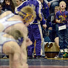 Tribune-Star/Joseph C. Garza<br /> You can do it!: A young Sullivan fan leaps off the ground as he cheers on Sullivan wrestler Cory Orndorff during Orndorff's 126-pound match Saturday at the Northview wrestling sectional in Brazil.