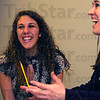 Tribune-Star/Jim Avelis<br /> Light moment: Samantha Hayes and her voice instructor Kara Claybrook share a laugh during lessons.