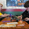 Tribune-Star/Jim Avelis<br /> Ranked: Rebecca D'Auria and Shaun Kauffman set up their cards at the beginning of their first round match of Pokemon. Kauffman has been ranked both nationally and world-wide.