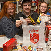 Tribune-Star/Joseph C. Garza<br /> Classic sweets: According to owner Jay Jones, customers will often remark on the stock of classic candy offered at Tilford's 5 and 10. Here, Jones, center, with Lisa Goff and Mary-Katherine Bedwell display some classic sweets.