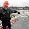 Tribune-Star/Joseph C. Garza<br /> Way of the wastewater: City Engineer Chuck Ennis describes how wastewater enters the new headworks at the Terre Haute Wastewater Utility during a tour Tuesday.