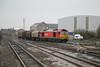 17 January 2012 :: 60011 arrives at Swindon with 6B49, Llanwern to Swindon loaded steel