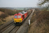 17 January 2012 :: 60011 at Callow Hill Nr Royal Wootton Bassett with 6B50, empy steel from Swindon to Llanwern