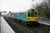 """31 January 2012 :: 975025 """"Caroline"""" propelled by 37409 passes Basingstoke with 2Z02, Cardiff to Bristol Parkway"""