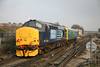 "31 January 2012 :: 37409 with 975025 ""Caroline"" passes Basingstoke train is 2Z02, Cardiff to Bristol Parkway"
