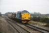 17 January 2012 :: The Bridgwater to Crewe flasks in train 6M67 with locomotives 37606 & 20309 are seen approaching Cam and Dursley